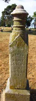 JUNGE, HERMANN - Douglas County, Nebraska | HERMANN JUNGE - Nebraska Gravestone Photos