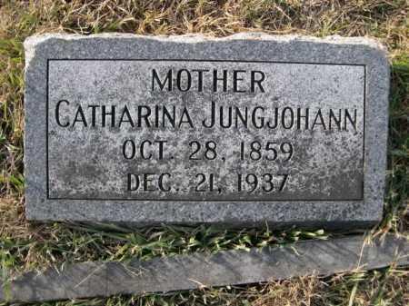 JUNGJOHANN, CATHARINA - Douglas County, Nebraska | CATHARINA JUNGJOHANN - Nebraska Gravestone Photos