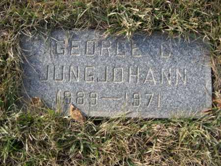 JUNGJOHANN, GEORGE D. - Douglas County, Nebraska   GEORGE D. JUNGJOHANN - Nebraska Gravestone Photos