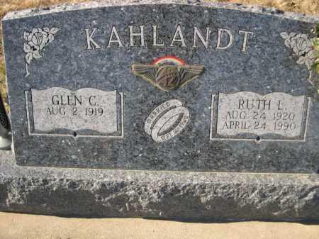 KAHLANDT, RUTH L - Douglas County, Nebraska | RUTH L KAHLANDT - Nebraska Gravestone Photos