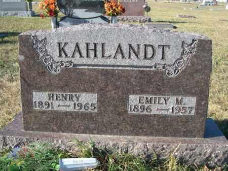 KAHLANDT, EMILY M. - Douglas County, Nebraska   EMILY M. KAHLANDT - Nebraska Gravestone Photos