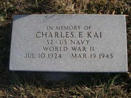 KAI, CHARLES E. - Douglas County, Nebraska | CHARLES E. KAI - Nebraska Gravestone Photos