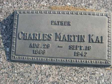 KAI, CHARLES MARTIN - Douglas County, Nebraska | CHARLES MARTIN KAI - Nebraska Gravestone Photos