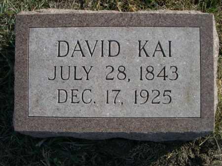 KAI, DAVID - Douglas County, Nebraska   DAVID KAI - Nebraska Gravestone Photos