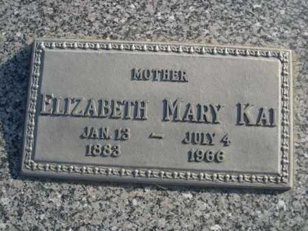 KAI, ELIZABETH MARY - Douglas County, Nebraska | ELIZABETH MARY KAI - Nebraska Gravestone Photos
