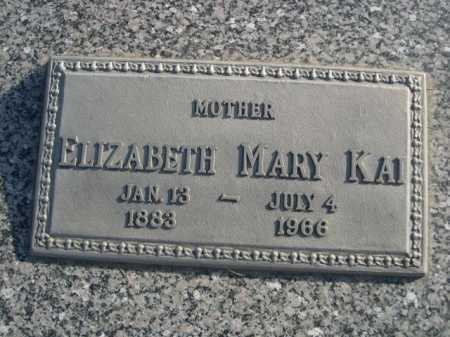 KAI, ELIZABETH MARY - Douglas County, Nebraska   ELIZABETH MARY KAI - Nebraska Gravestone Photos