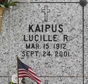 KAIPUS, LUCILLE R. - Douglas County, Nebraska | LUCILLE R. KAIPUS - Nebraska Gravestone Photos