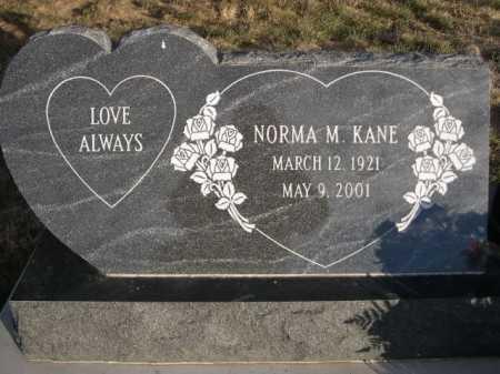 KANE, NORMA M - Douglas County, Nebraska | NORMA M KANE - Nebraska Gravestone Photos