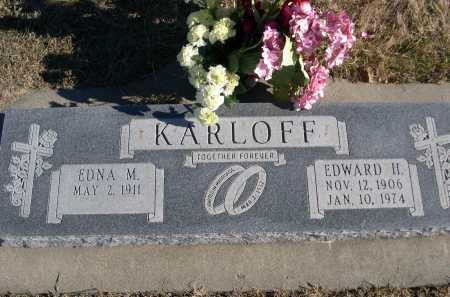 KARLOFF, EDNA M. - Douglas County, Nebraska   EDNA M. KARLOFF - Nebraska Gravestone Photos