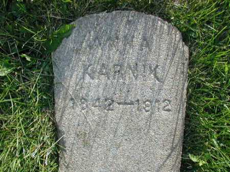 KARNIK, ANNA - Douglas County, Nebraska | ANNA KARNIK - Nebraska Gravestone Photos