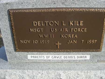 KILE, DELTON L. - Douglas County, Nebraska | DELTON L. KILE - Nebraska Gravestone Photos