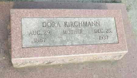 KIRCHMANN, DORA (CLOSE UP) - Douglas County, Nebraska | DORA (CLOSE UP) KIRCHMANN - Nebraska Gravestone Photos