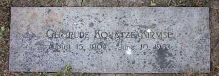 KIRMSE, GERTRUDE - Douglas County, Nebraska | GERTRUDE KIRMSE - Nebraska Gravestone Photos