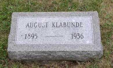 KLABUNDE, AUGUST - Douglas County, Nebraska | AUGUST KLABUNDE - Nebraska Gravestone Photos
