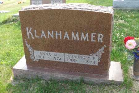 KLANHAMMER, ANNA M. - Douglas County, Nebraska | ANNA M. KLANHAMMER - Nebraska Gravestone Photos