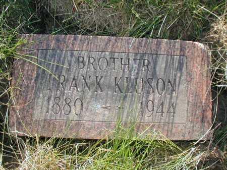 KLUSON, FRANK - Douglas County, Nebraska | FRANK KLUSON - Nebraska Gravestone Photos