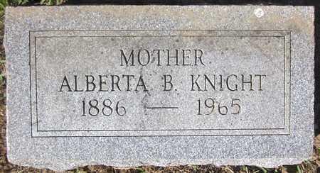 KNIGHT, ALBERTA B. - Douglas County, Nebraska | ALBERTA B. KNIGHT - Nebraska Gravestone Photos