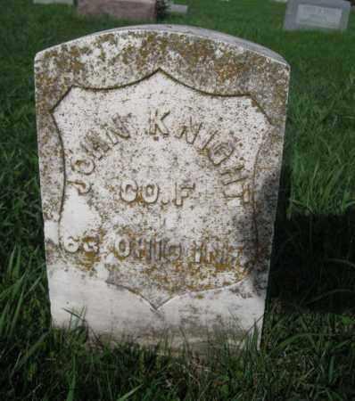 KNIGHT, JOHN K. - Douglas County, Nebraska   JOHN K. KNIGHT - Nebraska Gravestone Photos