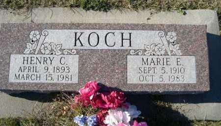 KOCH, MARIE E. - Douglas County, Nebraska   MARIE E. KOCH - Nebraska Gravestone Photos