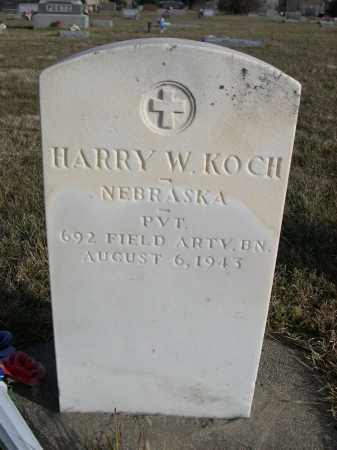 KOCH, HARRY W. - Douglas County, Nebraska   HARRY W. KOCH - Nebraska Gravestone Photos