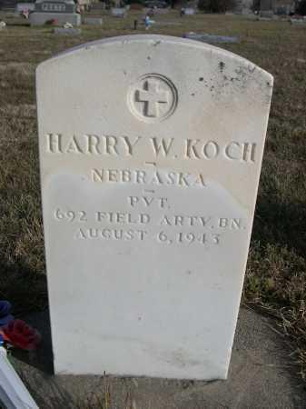 KOCH, HARRY W. - Douglas County, Nebraska | HARRY W. KOCH - Nebraska Gravestone Photos