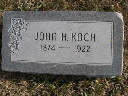 KOCH, JOHN H. - Douglas County, Nebraska   JOHN H. KOCH - Nebraska Gravestone Photos