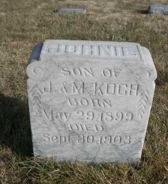 KOCH, JOHNIE - Douglas County, Nebraska | JOHNIE KOCH - Nebraska Gravestone Photos