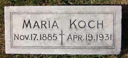 KOCH, MARIA - Douglas County, Nebraska | MARIA KOCH - Nebraska Gravestone Photos