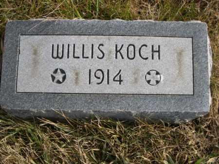 KOCH, WILLIS - Douglas County, Nebraska | WILLIS KOCH - Nebraska Gravestone Photos
