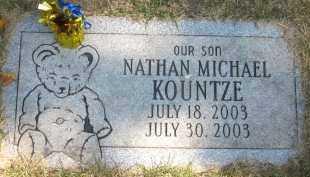 KOUNTZE, NATHAN MICHAEL - Douglas County, Nebraska | NATHAN MICHAEL KOUNTZE - Nebraska Gravestone Photos