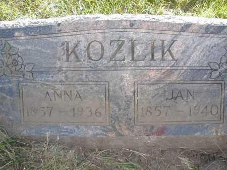 KOZLIK, ANNA - Douglas County, Nebraska | ANNA KOZLIK - Nebraska Gravestone Photos