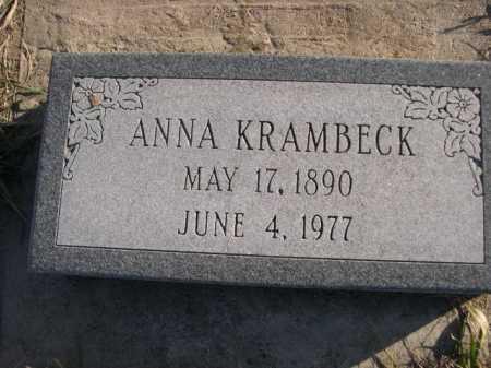 KRAMBECK, ANNA - Douglas County, Nebraska | ANNA KRAMBECK - Nebraska Gravestone Photos