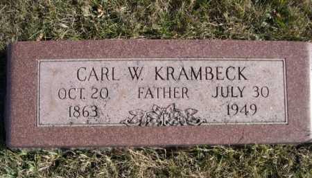 KRAMBECK, CARL W - Douglas County, Nebraska | CARL W KRAMBECK - Nebraska Gravestone Photos