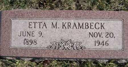 KRAMBECK, ETTA M - Douglas County, Nebraska | ETTA M KRAMBECK - Nebraska Gravestone Photos