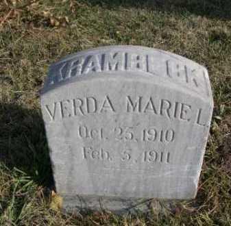 KRAMBECK, VERDA MARIEL - Douglas County, Nebraska | VERDA MARIEL KRAMBECK - Nebraska Gravestone Photos