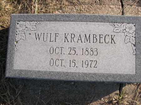 KRAMBECK, WULF - Douglas County, Nebraska | WULF KRAMBECK - Nebraska Gravestone Photos