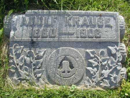 KRAUSE, ADOLF - Douglas County, Nebraska | ADOLF KRAUSE - Nebraska Gravestone Photos