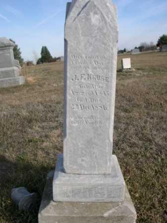 KRUSE, J. F. - Douglas County, Nebraska   J. F. KRUSE - Nebraska Gravestone Photos