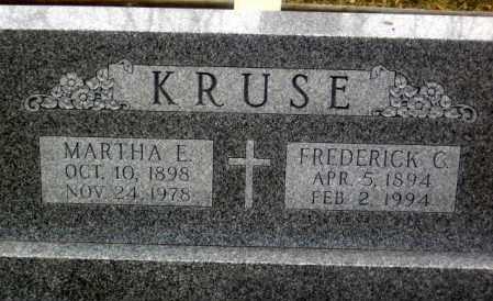 KRUSE, MARTHA E. - Douglas County, Nebraska | MARTHA E. KRUSE - Nebraska Gravestone Photos