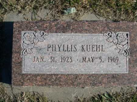 KUEHL, PHYLLIS - Douglas County, Nebraska | PHYLLIS KUEHL - Nebraska Gravestone Photos