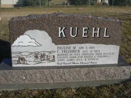 KUEHL, C. FREDERICK - Douglas County, Nebraska | C. FREDERICK KUEHL - Nebraska Gravestone Photos