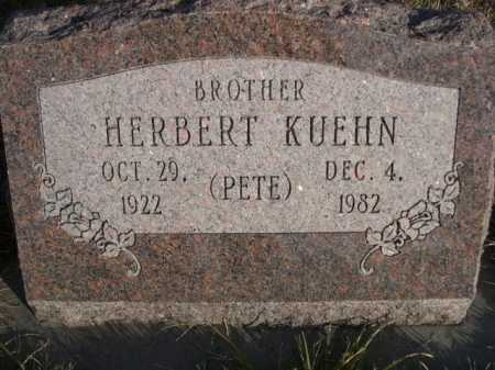 KUEHN, HERBERT (PETE) - Douglas County, Nebraska | HERBERT (PETE) KUEHN - Nebraska Gravestone Photos