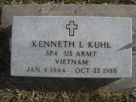 KUHL, KENNETH L. - Douglas County, Nebraska | KENNETH L. KUHL - Nebraska Gravestone Photos