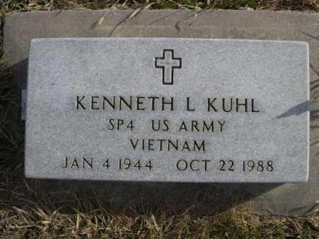 KUHL, KENNETH L. - Douglas County, Nebraska   KENNETH L. KUHL - Nebraska Gravestone Photos