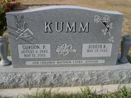 KUMM, GORDON P. - Douglas County, Nebraska | GORDON P. KUMM - Nebraska Gravestone Photos