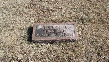 KUNNEMAN, RUDOLPH H.O. - Douglas County, Nebraska | RUDOLPH H.O. KUNNEMAN - Nebraska Gravestone Photos