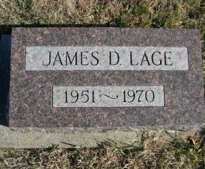 LAGE, JAMES D. - Douglas County, Nebraska | JAMES D. LAGE - Nebraska Gravestone Photos