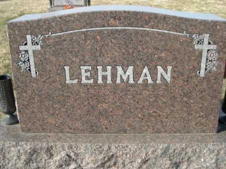 LEHMAN, FAMILY - Douglas County, Nebraska   FAMILY LEHMAN - Nebraska Gravestone Photos