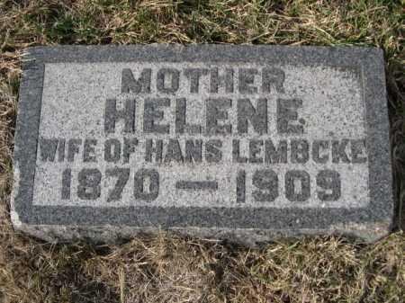 LEMBCKE, HELENE - Douglas County, Nebraska | HELENE LEMBCKE - Nebraska Gravestone Photos