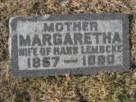 LEMBCKE, MARGARETHA - Douglas County, Nebraska | MARGARETHA LEMBCKE - Nebraska Gravestone Photos